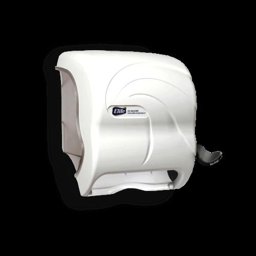 dispensador-toalla-palanca-compacto-blanco